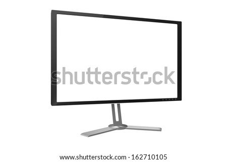 3D render of computer monitor. - stock photo