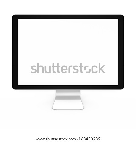 3d render of computer screen or monitor - stock photo