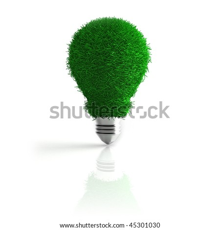 3d render of conceptual eco energy - stock photo