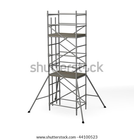 3d render of construction scaffold - stock photo