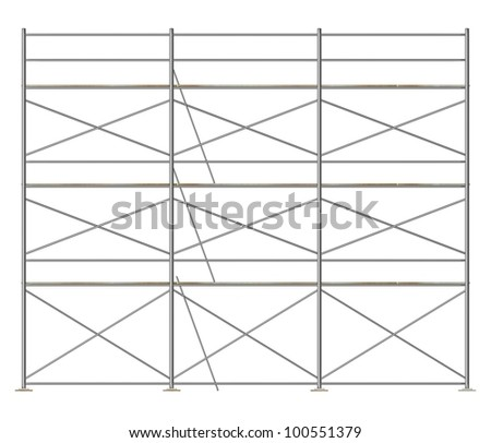 3d render of construction scaffolding - stock photo