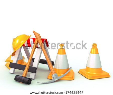 3D Render of Construction Tools