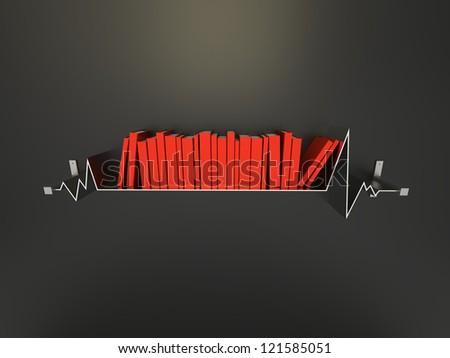 3d render of Creative Shelf - stock photo