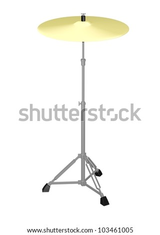 3d render of cymbal instrument - stock photo