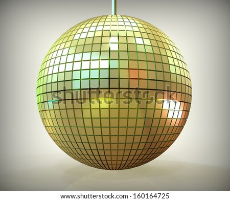 3d render of disco ball - stock photo