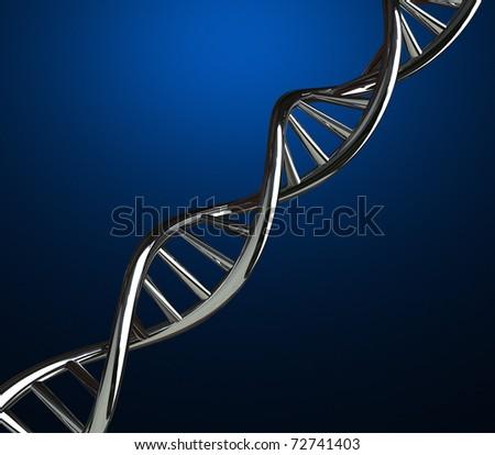 3D render of DNA strands on - stock photo