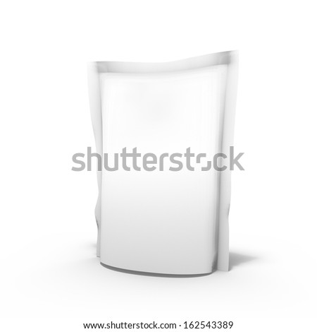 3d render of doy pack with food for use as a template - stock photo