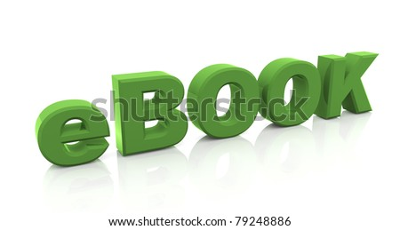 3d render of ebook text.