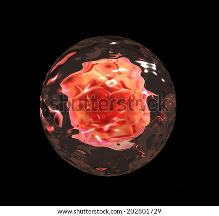 3d render of Embryo cleavage, medical illustration  - stock photo