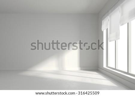3d render of empty interior room - stock photo
