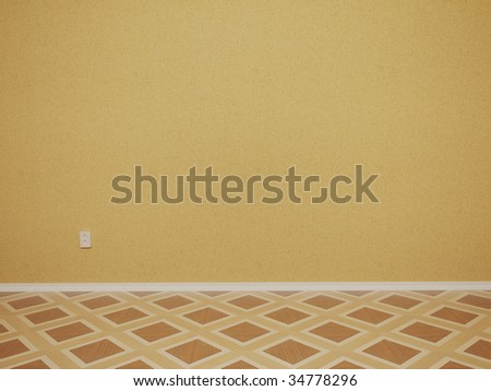 3d Render Of Empty Room With Wall And Outlet - More Variations In My Portfolio - stock photo