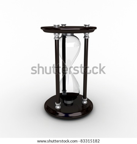 3d render of empty sand watch