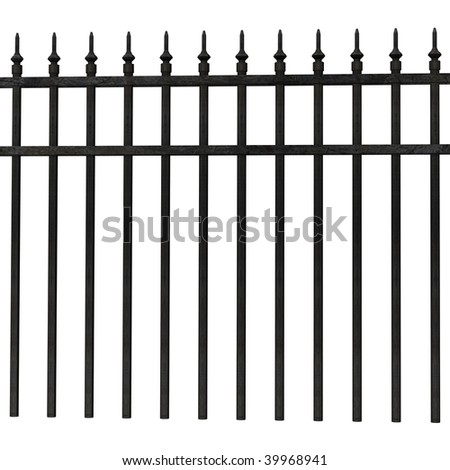 3d render of fence (architecture exterior element) - stock photo
