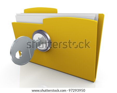 3d render of folder icon on white background