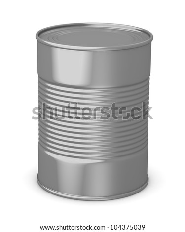 3d render of food can