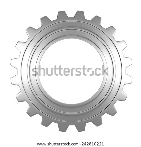 3d render of gear over white background - stock photo
