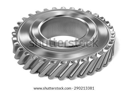 3d render of gear wheel - stock photo