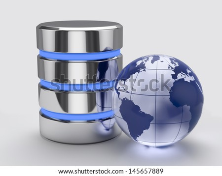 3d render of global storage concept - stock photo