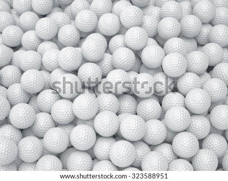 3d render of golf ball background. Sport concept - stock photo
