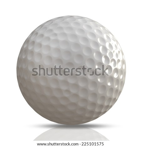 3d render of golf ball on white background. High resolution  - stock photo