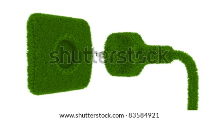 3d render of grass outlet isolated on white background
