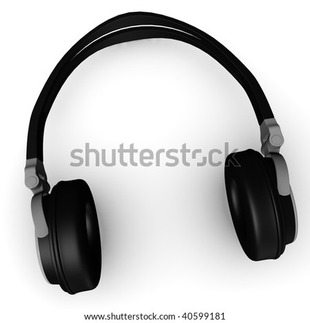 3d render of head phones