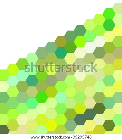 3d render of hexagon in green on white - stock photo