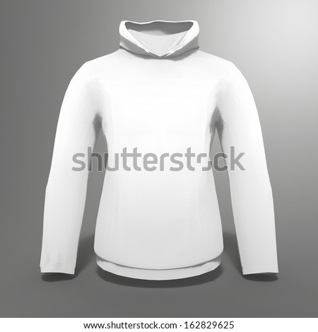 3d render of hoodie for use as template or sales display - stock photo