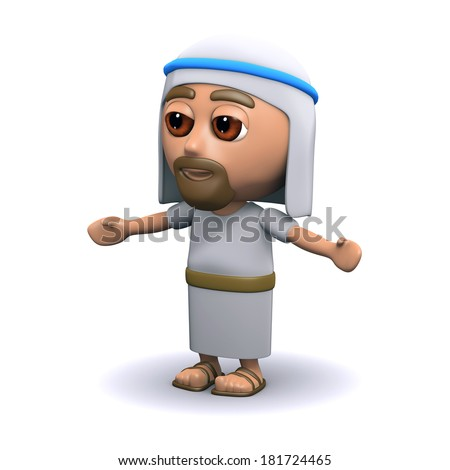 3d render of Jesus Christ with arms outstretched - stock photo