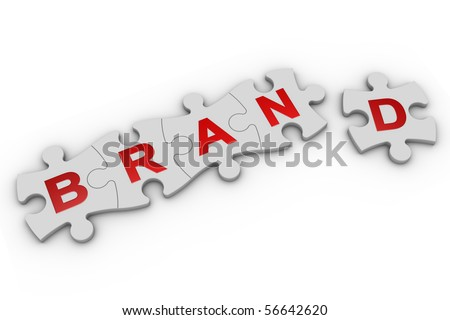3D render of jigsaw pieces. Part of a series. - stock photo