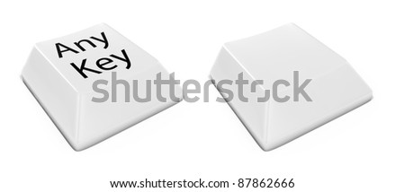 3d render of keyboard buttons set - stock photo