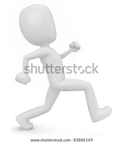 3D Render of Man Running