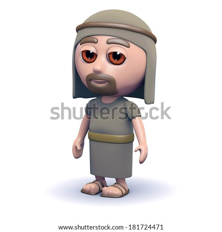 3d render of Marys husband Joseph - stock photo