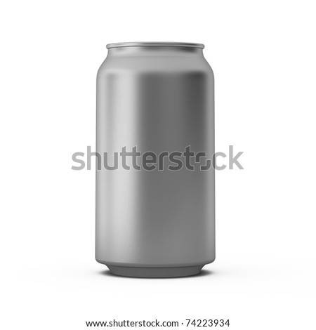 3d render of metal can - stock photo