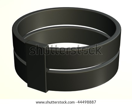3d render of metal ring