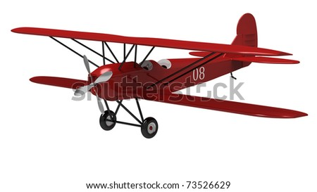 3d render of  model ancient the plane on a white background - stock photo