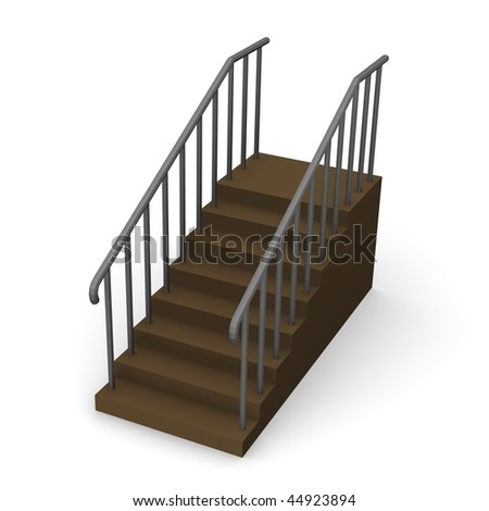 3d render of modern stairs