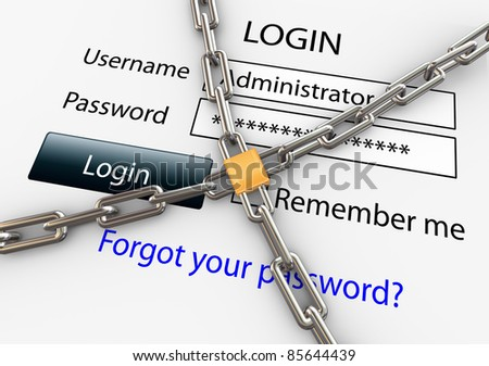 3d render of online security concept - stock photo