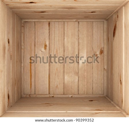 3d render of opened wooden box