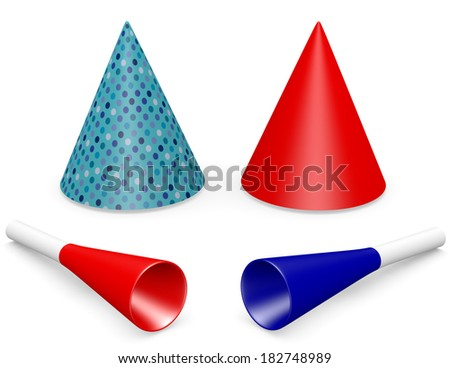 3d Render of Party Favors - stock photo