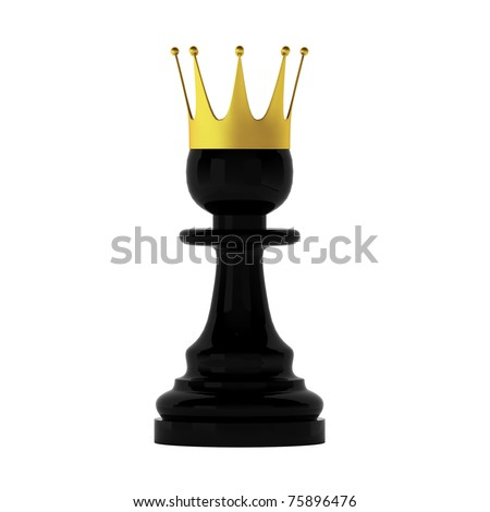 3d render of pawn - stock photo
