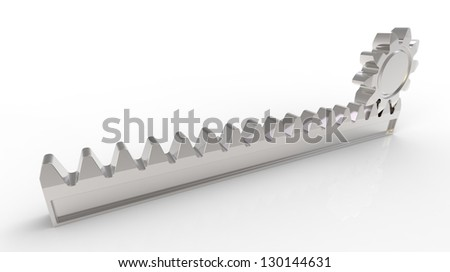 3d render of pinion gear mechanism with - stock photo