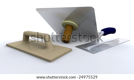 plastering tools stock photos images pictures