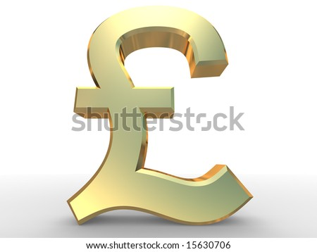 3d render of pound sterling sign - stock photo