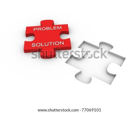 3d render of problem solving concept - stock photo