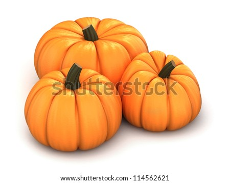 3d render of pumpkins
