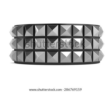 3d render of punk bracelet - stock photo