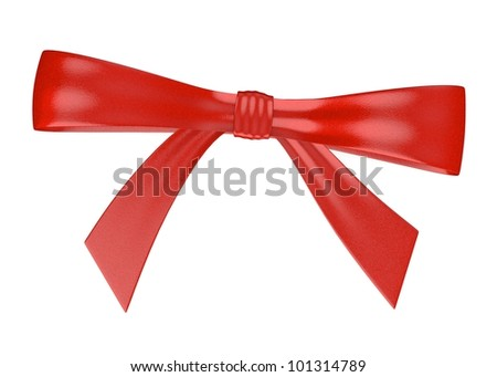 3d render of red ribbon