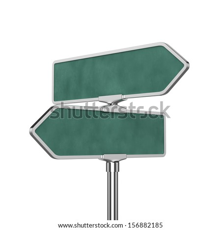 3d render of roadsign board isolated on white background