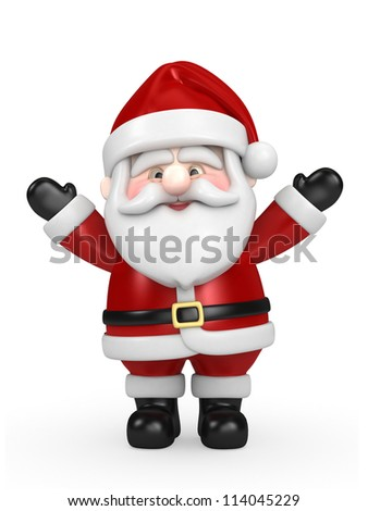 3d render of Santa Claus - stock photo